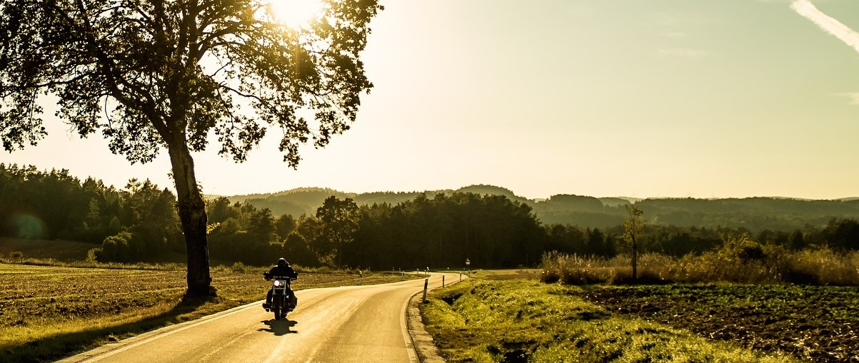 Motorcycling across the Wisper valley